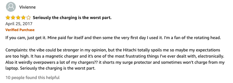 amazon customer review of the Nora