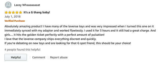 amazon review of the Lovense Osci