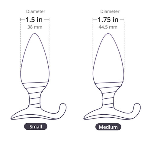 size diagram of the lovense hush