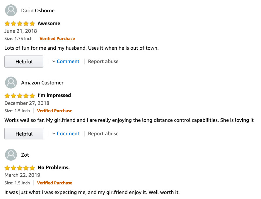 3 customer reviews of the hush from amazon